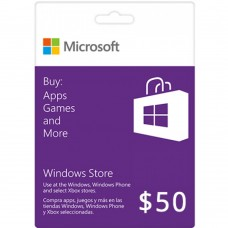 $50 Windows Store Gift Card [Online Delivery]